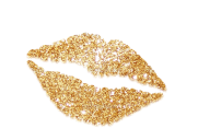 gold glitter tmc lips